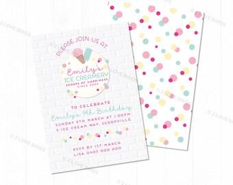 Ice Creamery Printable Invitation