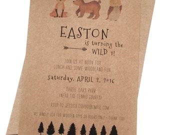 Woodland Birthday Printable Invitation