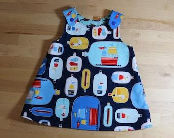 Girls Reversible A-Line dress 6-12 months