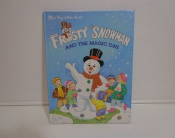 Frosty the Snowman and the Magic Day Illustrated Vintage 1991 Children's Story Book by Golden Books, Gifts Under 10
