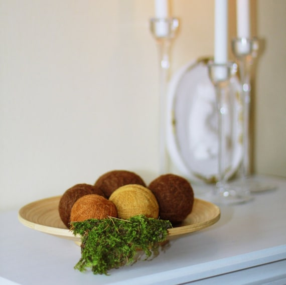 Natural Home Ornament Home Decor Balls Felted Wool Dryer
