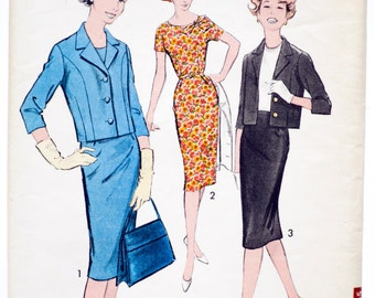 Vintage 60's Advance 9024 - Women's Dress and Jacket or Two Piece Suit - Size 12 - Bust 32