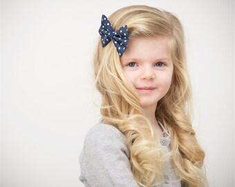 Hair bows, hair clips, girls nows, polka dot bows, baby bows, bows for girls, toddler bows, denim bows, polka dot, bow clips, baby headbands