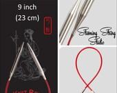 """9"""" Chiaogoo rouge circulaires - choix de la taille de l'aiguille"""