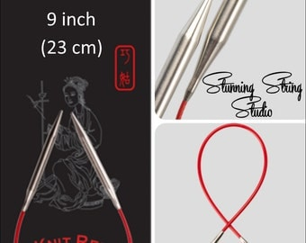 "9"" Chiaogoo Red Circulars - Choice of Needle Size"