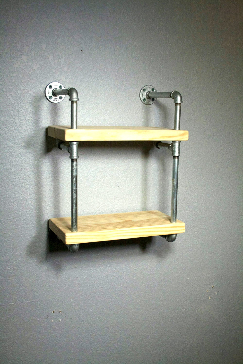 pipe shelving industrial furniture wall mounted shelving. Black Bedroom Furniture Sets. Home Design Ideas