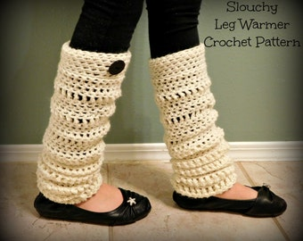 Slouchy Leg Warmer Crochet Pattern, Leg Warmer Crochet Pattern, Baby Leg Warmers, Child Leg Warmers, Adult Leg Warmers, Crochet Pattern