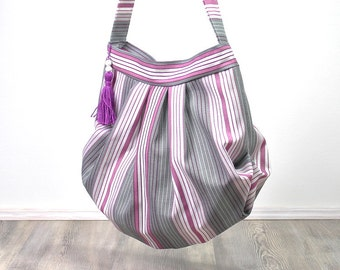 Balloon bag with zipper * new model *, bag, shoulder bag, shoulder bag,