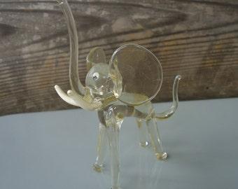 Handblown Glass Elephant