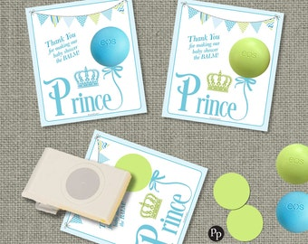 baby shower gift tags for eos lip balm gifts prince design thank you tags