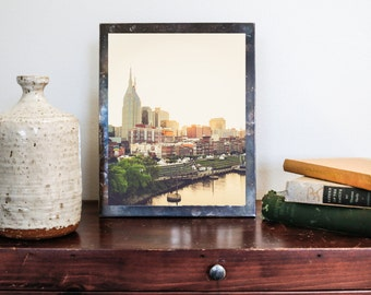 "Nashville Art, Nashville Skyline, Downtown Nashville, Nashville Photography, Country Music, Architectural, Nashville Wall Decor ""Riverfront"""