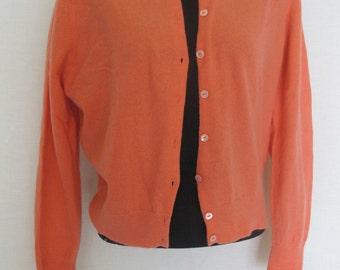 Pin Up Cardigan Sweater Garland Mad Men Cardigan Peach