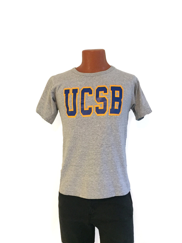 Vintage 70s university of california santa barbara t shirt for T shirt printing santa barbara