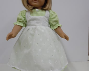 American Girl Long Historical Dress with Apron and Pantaloons