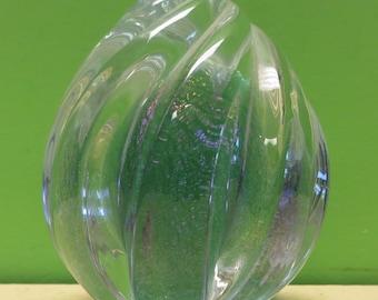 Beautiful 1994 Maytum Rodin Art Glass Iridescent Paperweight - Free Shipping