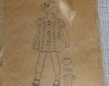Dress with Front and Back Yokes and Panels with Panties in Size 10 Complete Vintage Mail Order Sewing Pattern 3369
