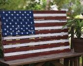 Flag -American Flag - Rustic American Flag - Wooden American Flag - Farmhouse - American Flag - Farmhouse American Flag - Barn wood -Rustic