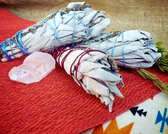 White Sage - Sage and Lavender Bundle - Sage and Cedar Bundle - Smudge Sticks