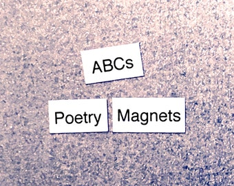ABCs Alphabet Refrigerator Magnets, Poetry Word Magnets