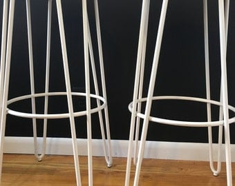 2 Hairpin Bar Stools