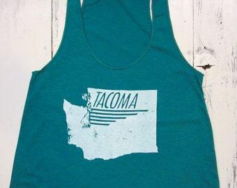 Tacoma womens tank top. Tacoma, Washington tank.
