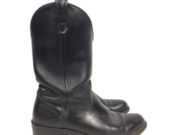 Size 12 - Leather Cowboy Boots - Double H