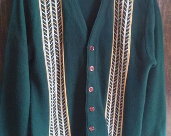 Amazing Vintage Acrylic Button Down Sweater