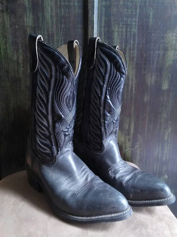 s vintage custom made western cowboy boots