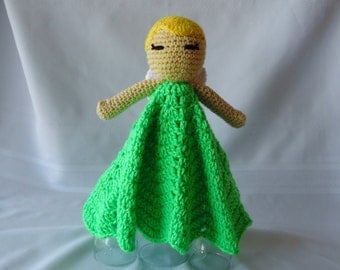 Tinkerbell Inspired Lovey/Security Blanket
