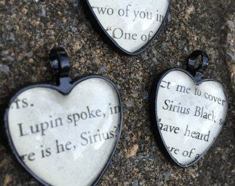Sirius Black - Harry Potter Book Quotes Pendant, Necklace, or Keychain