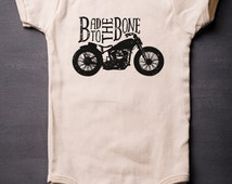 Baby Bodysuit - Bad To The Bone - Baby Shower Gifts - Organic Baby Clothes - George Thorogood