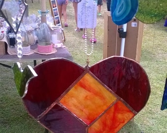 Heart in stained glass -suncatcher