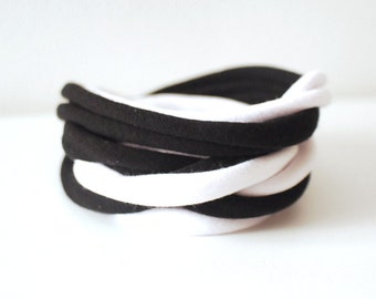 Endless Bi-tone Wrap Wrist Cuff Basic Stretch Wrist Bracelet Fashion accessory Women Teens Wrist Tattoo Cover