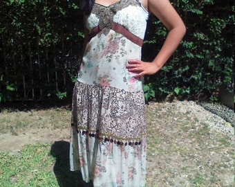 Robbie Bee,boho dress,size 12,floral dress,midi, Free US shipping