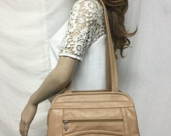 Free Ship,Leather bag,tan,leather,bag,purse, Shoulder Bag ,Made in Mexico
