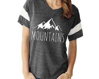 MOUNTAINS Slouchy Gym Tee