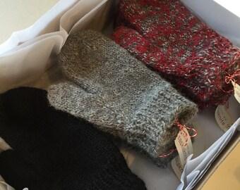 Cozy Hand Knit Llama or Alpaca Mittens