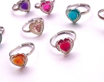 Heart Ring, Plastic Heart Ring