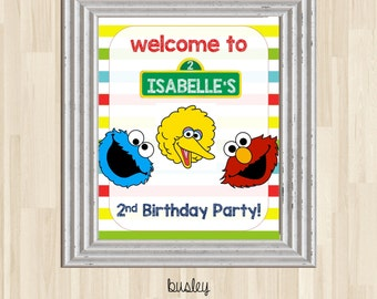 Sesame Street Poster, Sesame Street Birthday Poster, Sesame Street Birthday Party, Elmo Poster, Elmo Birthday Party Poster *DIGITAL*