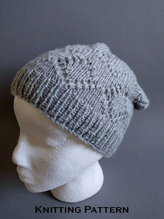 Knitting Patterns For Winter Hats : Knit Hat Pattern / Winter Hat Knitting Patterns by ...