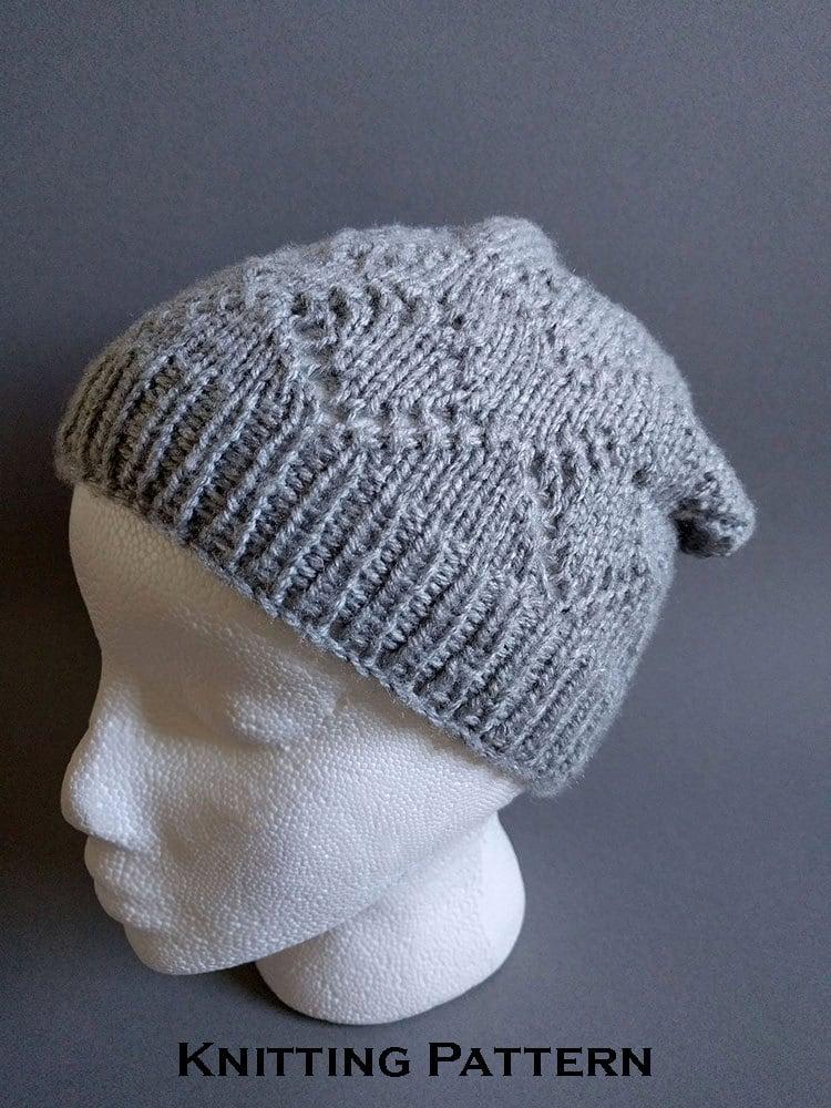 Knitting Pattern For T Bag Hat : Knit Hat Pattern / Winter Hat Knitting Patterns by ...