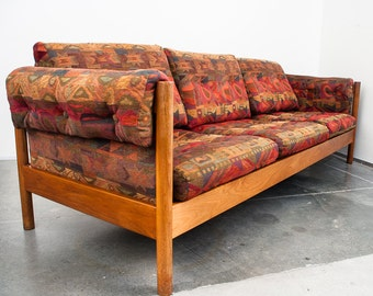 Sold!! Mid Century Modern Sofa Couch Daybed Teak Minimalist Scandanavian Danish Borge Jensen FREE SHIPPING