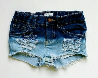 Toddler girl girls ombre denim jean shorts any size