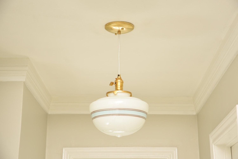 Free Shipping! Pendant Lighting Gold Brass - 10 White Turquoise ...