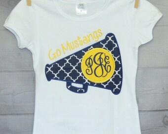 Personalized Megaphone Monogram Applique Shirt or Onesie