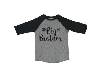 Big Brother Shirt, Baby Announcement Shirt, Boy Sibling Shirts, New Baby Announcement. Big Bro Tee. Big Brother T, Promoted to Big Brother
