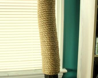 Handmade & Recycled Tree-Limb Cat Scratching Post - Cat Scratcher - Rustic Cat Furniture