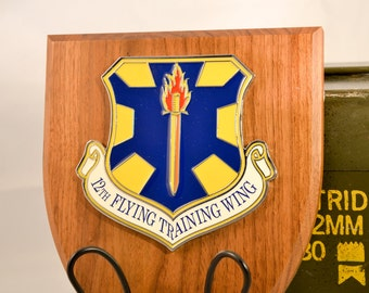 12th Flying Training Wing Plaque - USAF Militaria - Air Force Collectible - USA Collectible