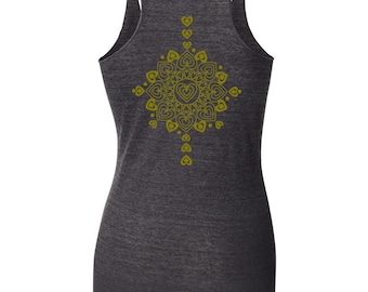 Hearts Tank Gold  Ink - by Kiss a Cow
