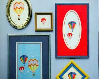 Up And Away Designs By Nanci Vintage Cross Stitch Pattern Leaflet 1982